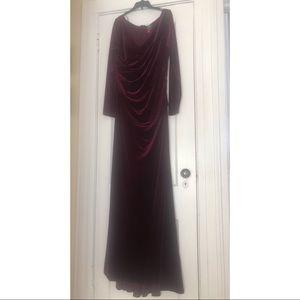 Classic, Elegant, Long Sleeve Deep V Dress